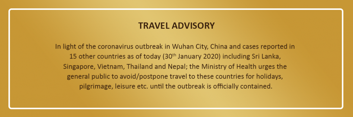 travel advisory corona virus