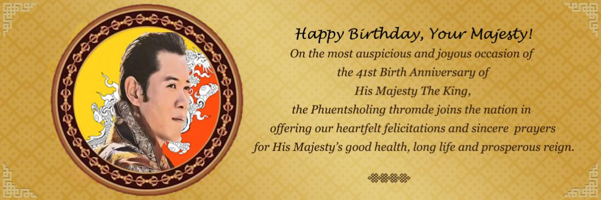 41st Birth Anniversary of His Majesty the 5th Druk Gyalpo